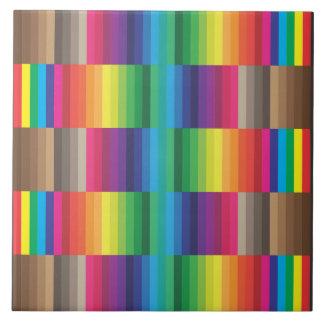 Azulejo arco iris de la muestra del color