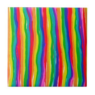 Azulejo Arco iris pintados