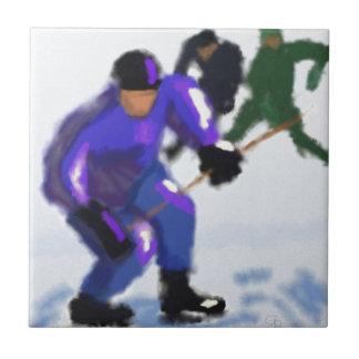 Azulejo Arte del juego del hockey