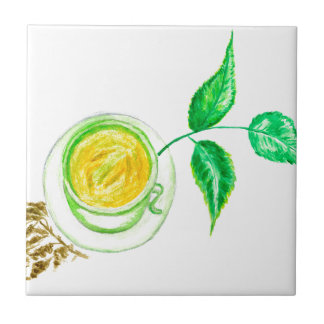 Azulejo Arte del té verde