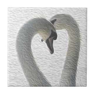 Azulejo Arte salvaje de los pares del corazón de los