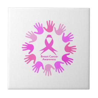 Azulejo Ayuda de la conciencia del cáncer de pecho
