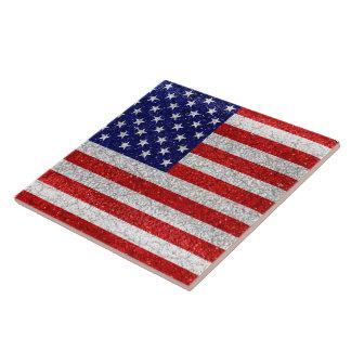 Azulejo Bandera sucia de los E.E.U.U.