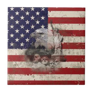Azulejo Bandera y símbolos de Estados Unidos ID155