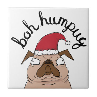 Azulejo Barro amasado de Santa del navidad de Bah Humpug