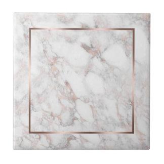 Azulejo Blanco y mármol del Rosa-Oro falso