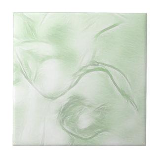 Azulejo Bosquejo de la flor de dos tulipanes en verde