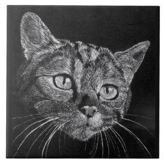 Azulejos gato blanco y negro for Azulejo a cuadros blanco y negro barato