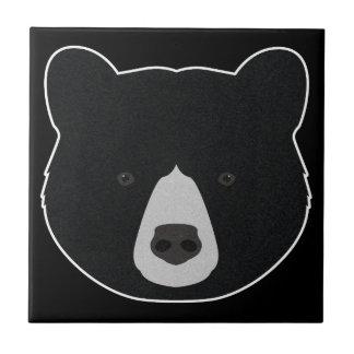 Azulejo Cara del oso negro
