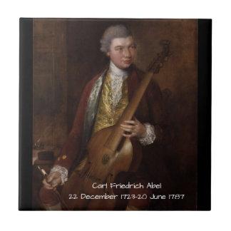 Azulejo Carl Friedrich Abel