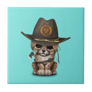 Azulejo Cazador lindo del zombi de Cub del guepardo