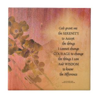 Azulejo Cerca una del membrillo del rezo de la serenidad