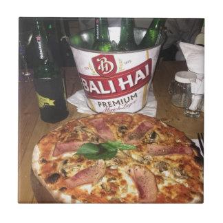 Azulejo Cerveza y pizza de Bali