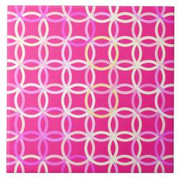 azulejo crculos modernos de los mediados de siglo - Azulejos Rosa