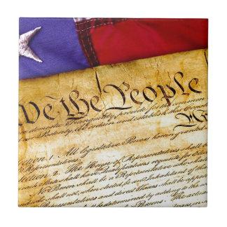 Azulejo Constitución 4ta julio de la independencia del 4