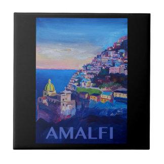 Azulejo Costa retra Italia de Amalfi del poster