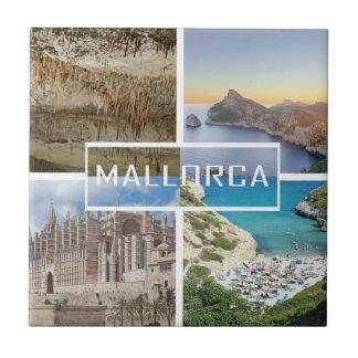 azulejo cuatro fotos de la isla de Mallorca