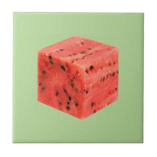 Azulejo Cubo rojo dulce fresco original de la comida de la