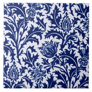 Azulejo Damasco del cardo de William Morris, azul de