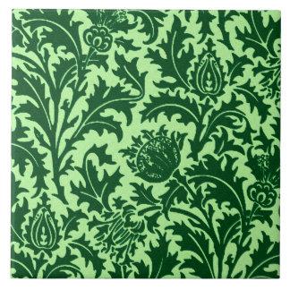 Azulejo Damasco del cardo de William Morris, verde