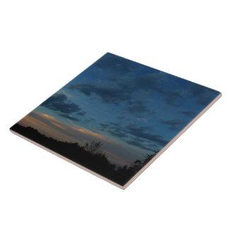 Azulejo De Cerámica 4to del cielo 2016 de la puesta del sol de julio