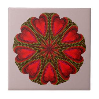 Azulejo De Cerámica Adorno rojo imponente del navidad
