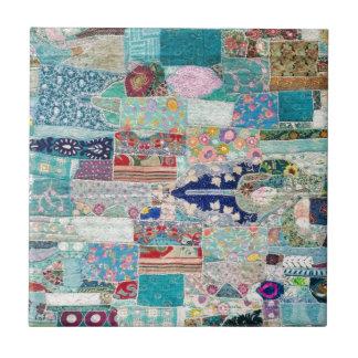 Azulejo De Cerámica Aguamarina y diseño azul de la tapicería del
