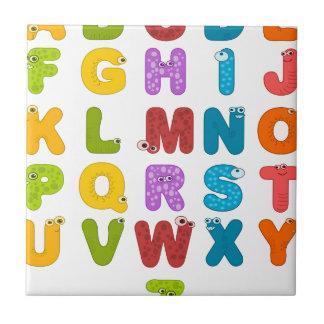Azulejo De Cerámica alfabeto