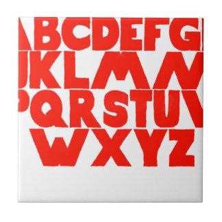 Azulejo De Cerámica Alfabeto inglés