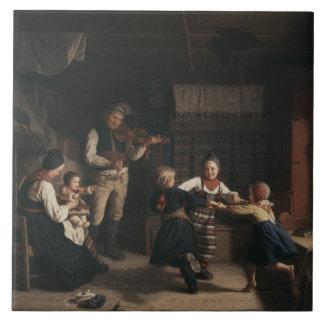 Azulejo De Cerámica Amalia Lindegren - el domingo por la noche en un
