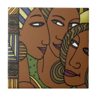 Azulejo De Cerámica Amigos afroamericanos de la hermana de las mujeres