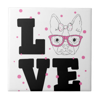 Azulejo De Cerámica Amor adolescente rosado
