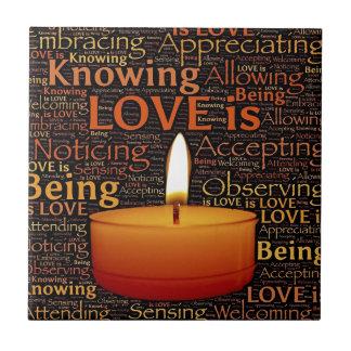 Azulejo De Cerámica Amor, cita de la vela