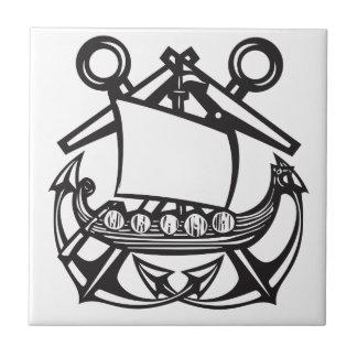 Azulejo De Cerámica Ancla de Viking