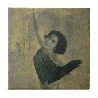 Azulejo De Cerámica Ángel con la arpa