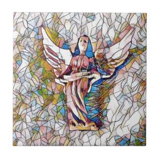 Azulejo De Cerámica Ángel de guarda bonito del vitral