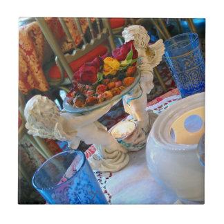 Azulejo De Cerámica Ángeles franceses de la casa de té
