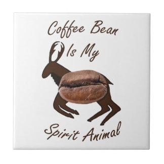 Azulejo De Cerámica Animal del alcohol del grano de café