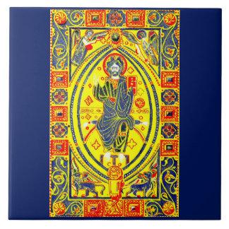 Azulejo De Cerámica Arte popular bizantino Jesús