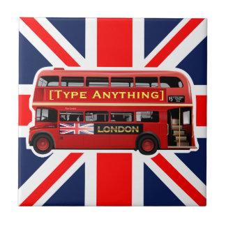 Azulejo De Cerámica Autobús rojo de Londres temático