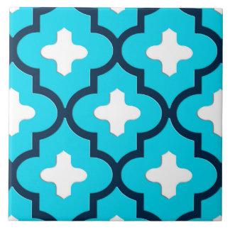 Azulejo De Cerámica Azul marroquí clásico de la teja, del añil y de