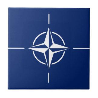 Azulejo De Cerámica Bandera de la OTAN