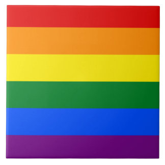 Azulejo De Cerámica Bandera del arco iris