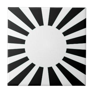 Azulejo De Cerámica Bandera del sol naciente de Japón