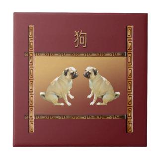 Azulejo De Cerámica Barro amasado en el Año Nuevo chino del diseño