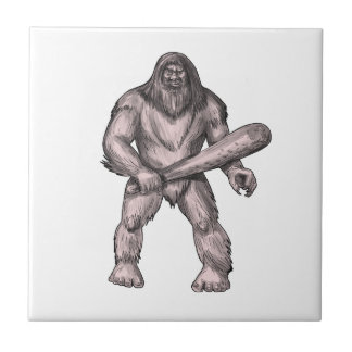 Azulejo De Cerámica Bigfoot que celebra el tatuaje derecho del club