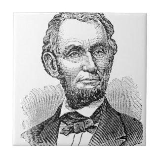 Azulejo De Cerámica Busto de Abe Lincoln del vintage