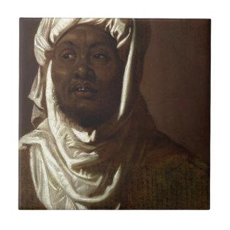 Azulejo De Cerámica Cabeza de un hombre africano