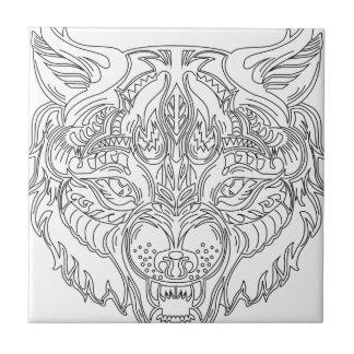 Azulejo De Cerámica cabeza del lobo