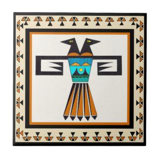 Azulejo De Cerámica Cabeza gemela del pájaro del sudoeste